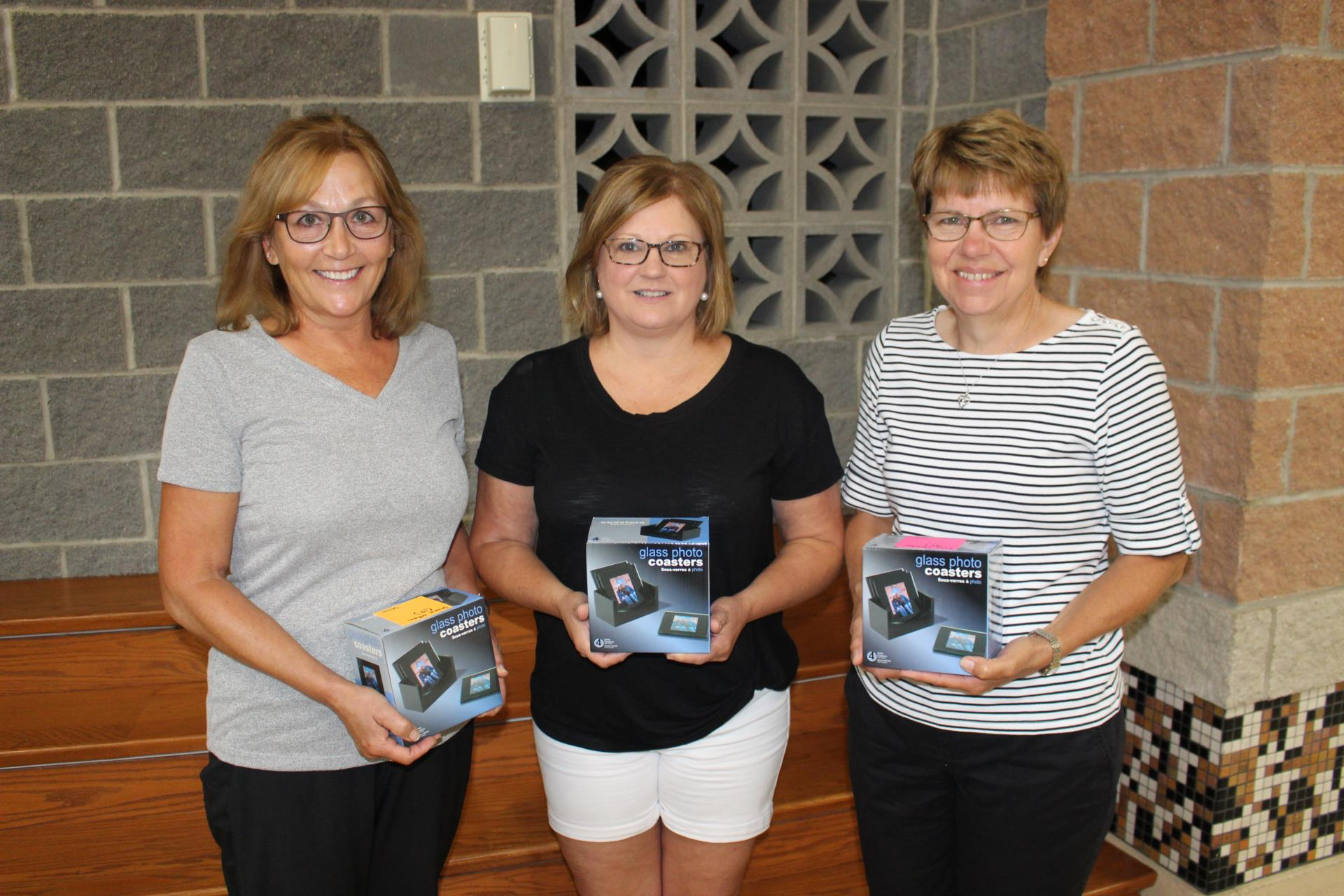 Fifteen Years of Service: Diane Otten, Kathy Coon and Rose Moeder  Not pictured: Karen Bergman and Teresa Heyne