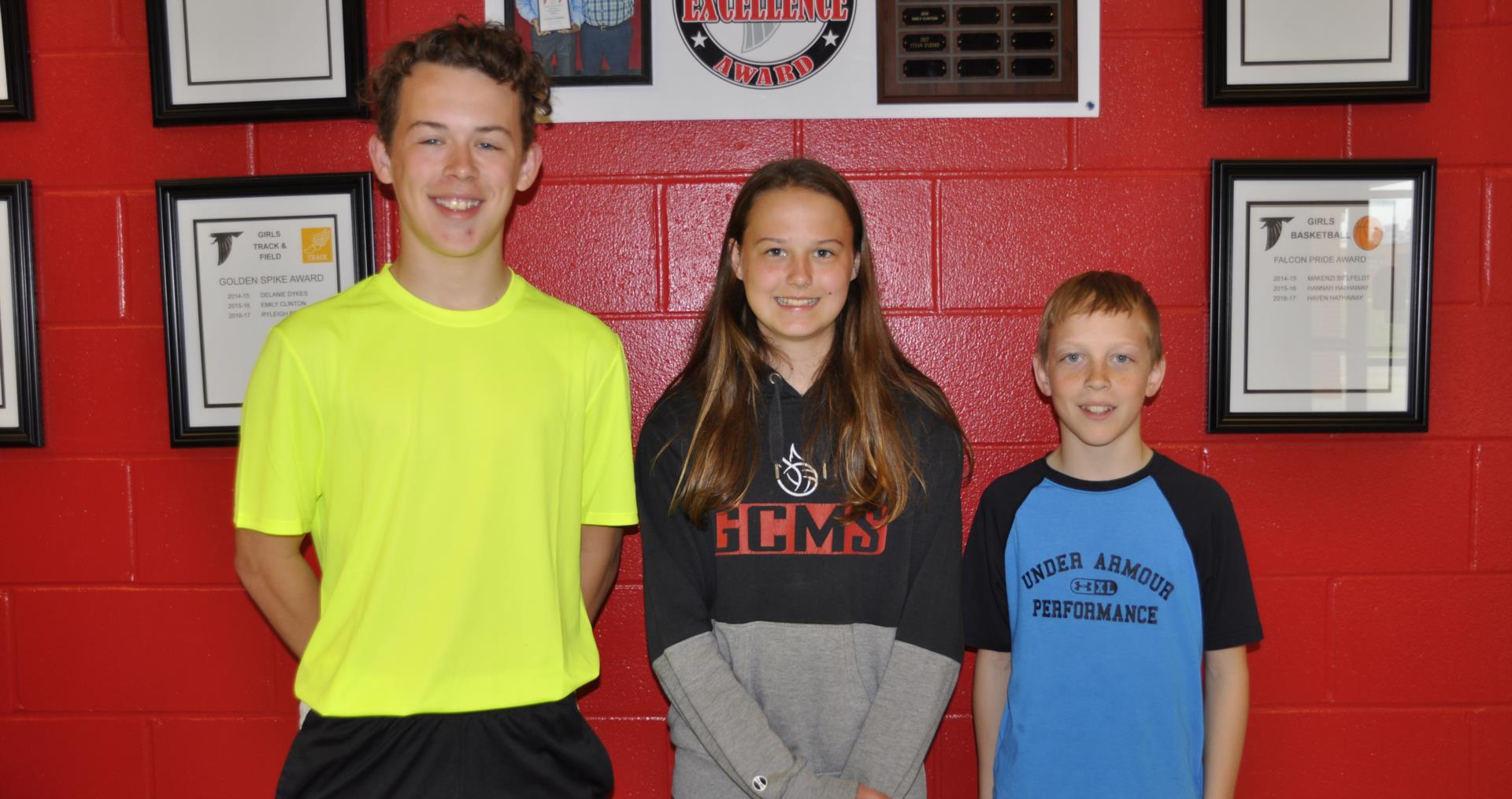 April 2018 students of the month