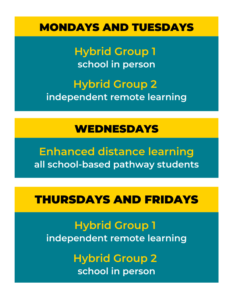 New hybrid learning schedule