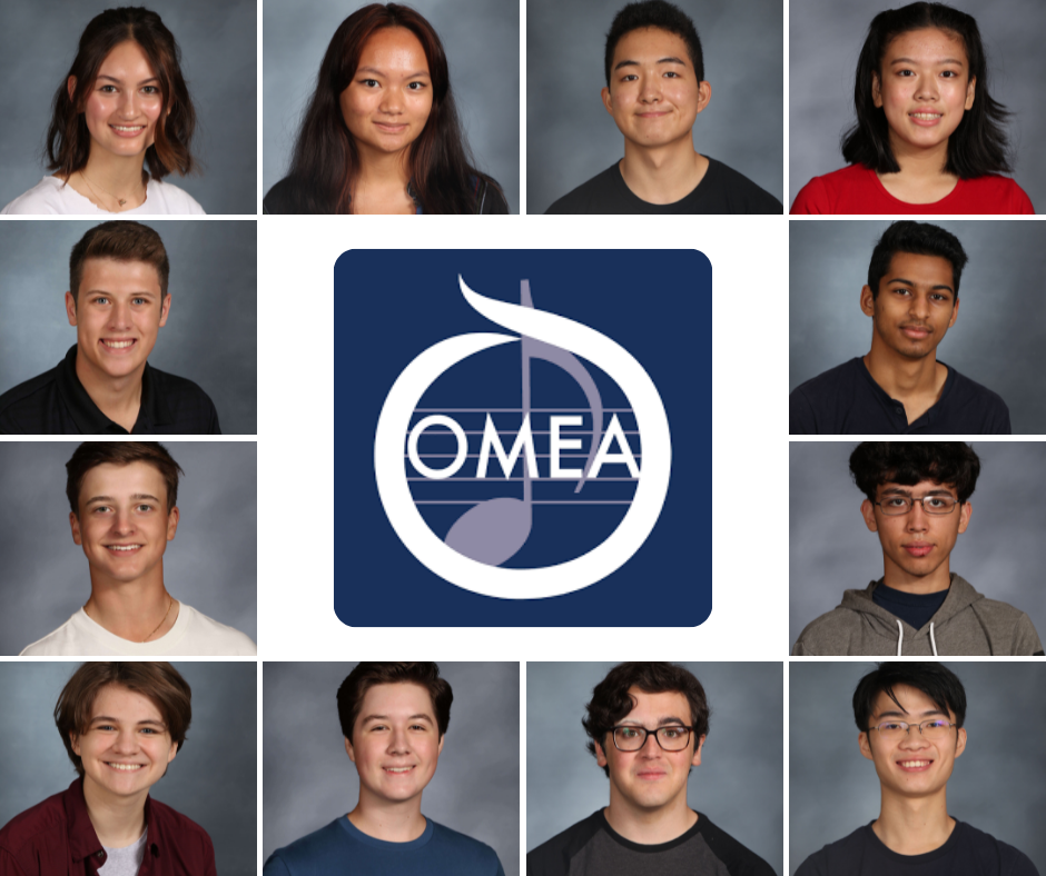 The students selected for the orchestras