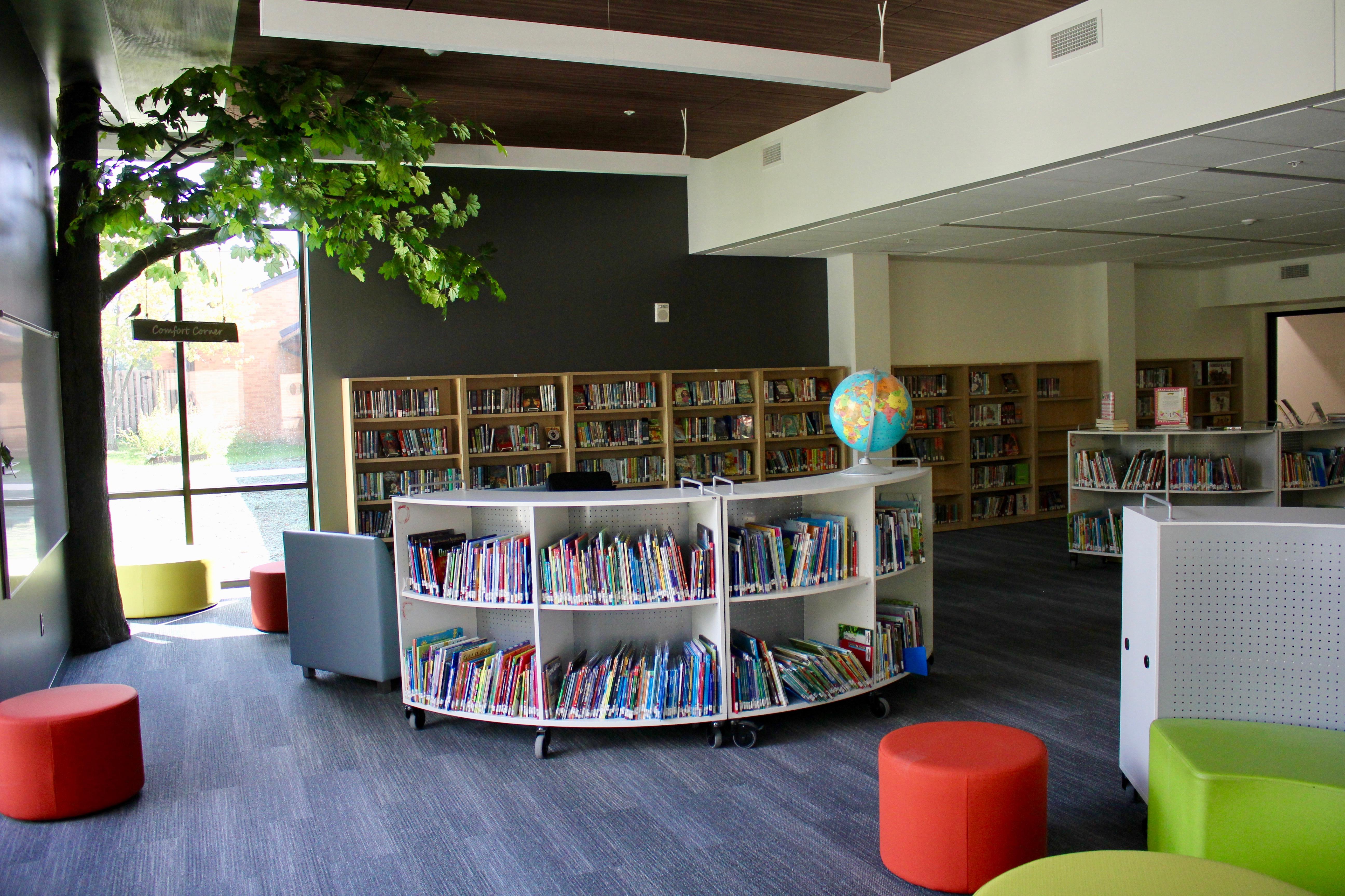 Inside the Tremont Elementary School media center
