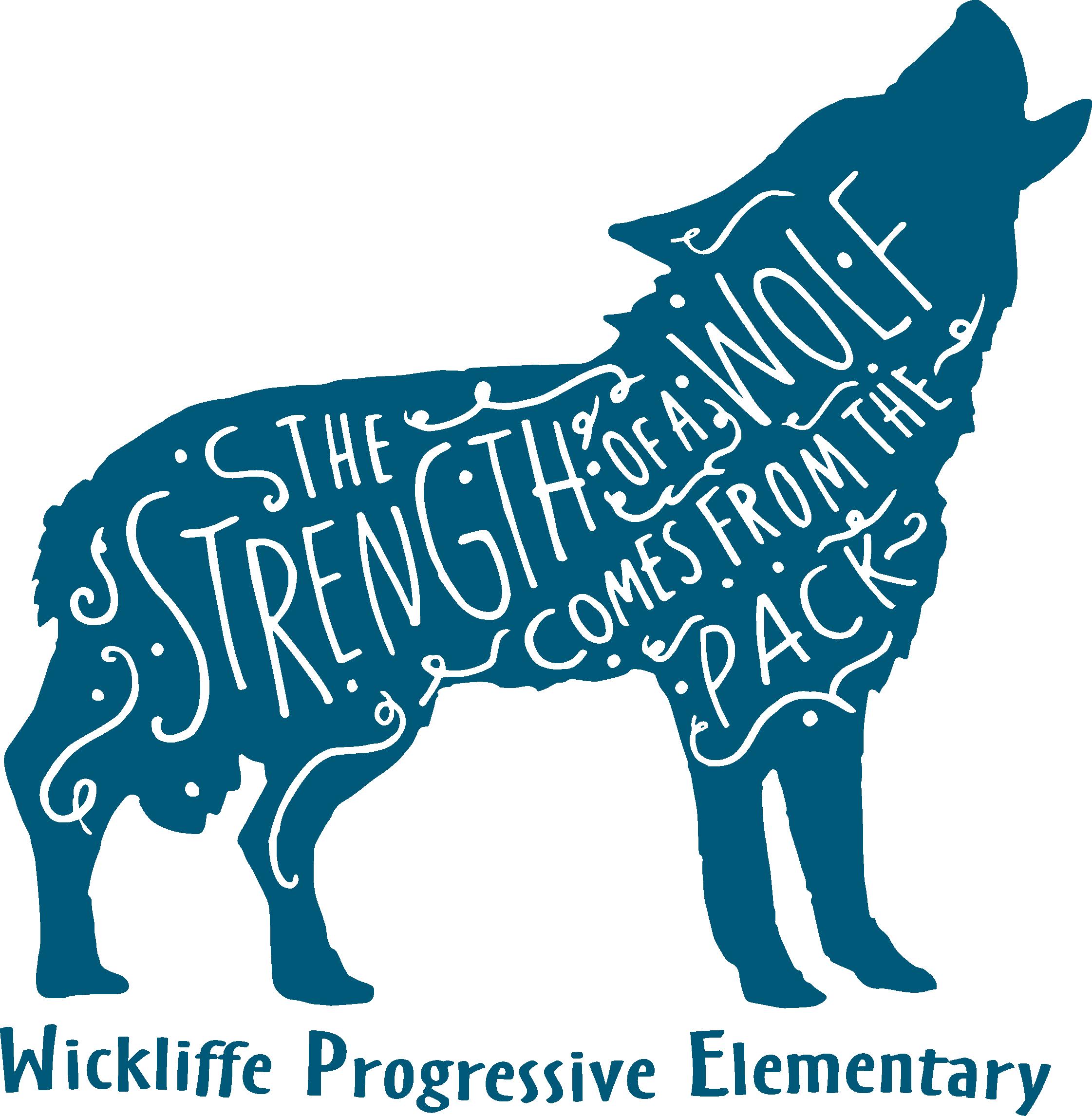 Wickliffe Progressive Elementary wolf logo