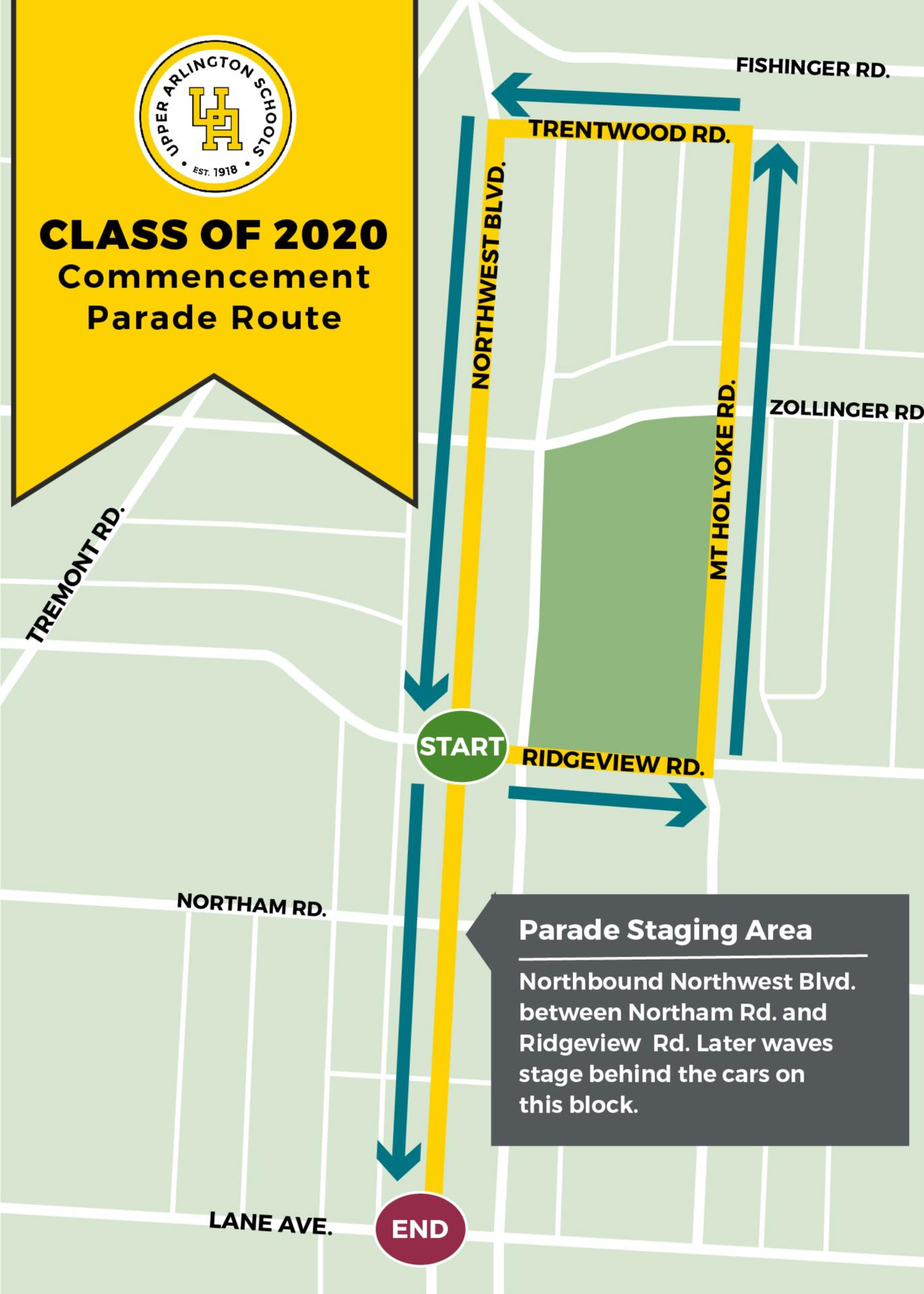 A map of the parade route