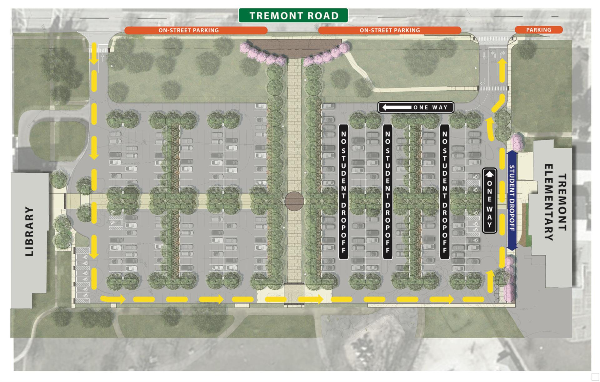 Tremont parking lot map