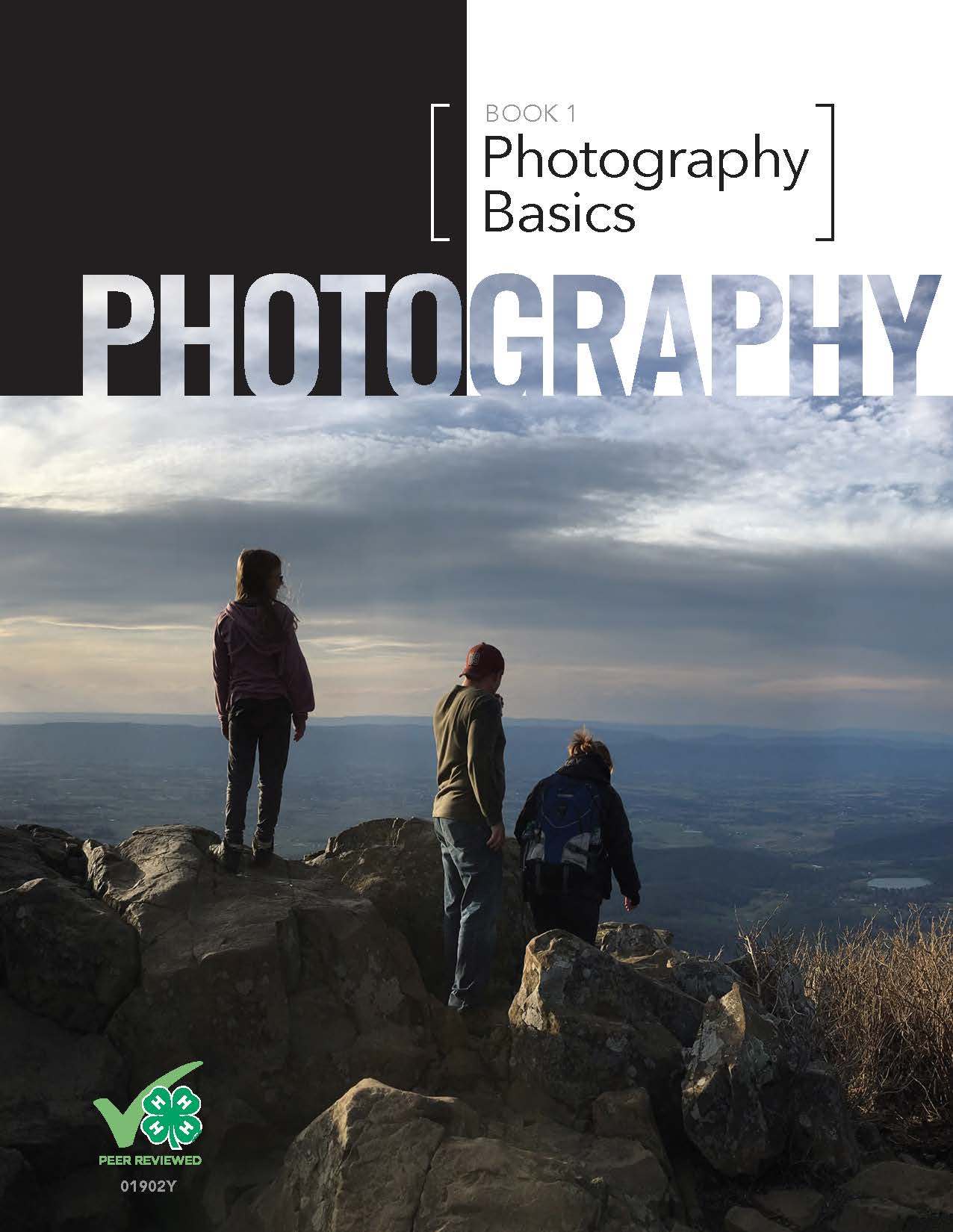A 4-H photography book cover