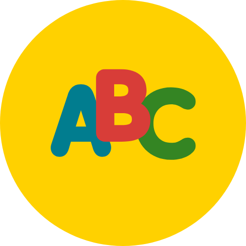 An icon of the letters A B and C