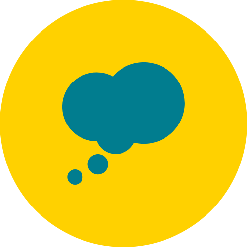 An icon of a speech bubble